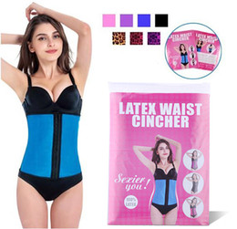 e9ae4f85f Latex Waist Trainer Corset Plus Size Steel Bone Workout Waist Cincher Women  Slim Body Shaper Girdles Corsets XS-6XL New Package
