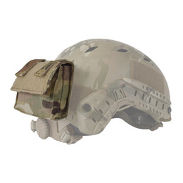 $enCountryForm.capitalKeyWord Australia - Helmet Cover Removable Rear Pouch 2019 Tactical Fast Helmet Accessories team patch Utility Pouch Helmet Gear Pouch Multicam
