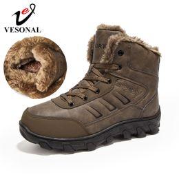 $enCountryForm.capitalKeyWord NZ - VESONAL Brand Short Plush Snow Boots For Male Adult Winter Keep Warm Sneakers Men Ankle Boots Footwear Waterproof Comfortable