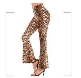 $enCountryForm.capitalKeyWord Australia - Womens Summe Designer Leopard Print Wide Leg Casual Female Clothing Long Sexy Pants Bell Bottom Trousers