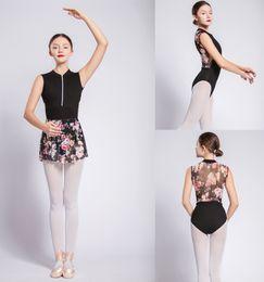 ebdb07935c Gymnastik Trikot Erwachsene 2018 Neues Design Reißverschluss Net Dance  Kostüm Hohe Qualität Schwarz Ballett Tragen Frauen Ballett Trikot
