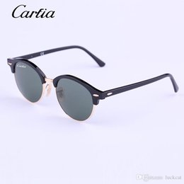 Original Flash Drive Australia - Carfia round Authentic 4246 Sunglasses 2018 New Arrival 51mm Women Sunglasses Plank Frame Flash Mirror Lenses with Original Box FreeShipping