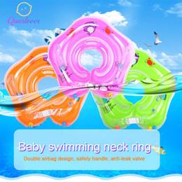 $enCountryForm.capitalKeyWord Australia - Baby Inflatable Swim Neck Ring Newborns Bathing Circle Neck Inflatable Float Wheels Swimming Pool Raft Toys Swimming Accessories
