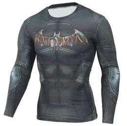 Jerseys Wolf Australia - Mens Compression Shirts 3D Teen Wolf Jerseys Long Sleeve T Shirt Fitness Men Lycra MMA Crossfit T-Shirts Tights Brand Clothing C8