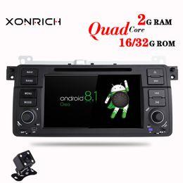 $enCountryForm.capitalKeyWord NZ - 1 Din Android 8.1 Quad Core Car DVD Player For BMW E46 M3 318 320 325 330 335 Rover 75 1998-2006 GPS Navigation BT Wifi