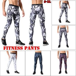 running gear men NZ - Mens Compression Tights Sports Running Pants Base Layer Gear Tight Wear Fitness Pants Leggings Fitness Basketball Tight Wear