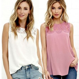 Wholesale women's tank tops resale online - Women s Sleeveless Vest Tank Tops Blouse Tee Ladies Summer Casual T shirt