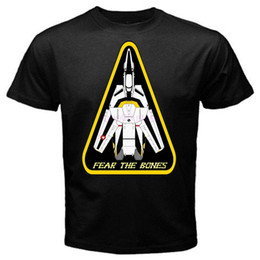 Chinese  Robotech macross fear the bones classic japan movie T-Shirt Black Basic Tee manufacturers