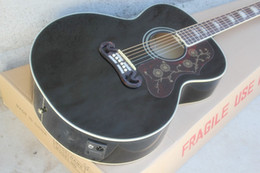 Black Acoustic Guitars NZ - Wholesale Black 43''Acoustic Guitar with Pickups, Gold Hardware, Rosewood Scale. White Compulsory, offering personal services