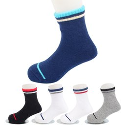 $enCountryForm.capitalKeyWord UK - 5 Pairs Stripe Kids Socks High Quality Cotton Infant Children Boy Short Sports Socks Thick Breathable for Baby Outdoor Warm