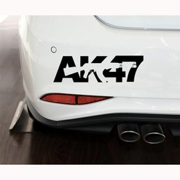 gun wholesalers ak47 Canada - Reflective Car Stickers AK47 military weapon guns For Laptop Skateboard Pad Bicycle Motorcycle PS4 Phone Luggage Decal Pvc guitar Stickers