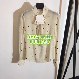 0b5aa0887247 Multi color polka dot ribbon online shopping - 2019 Women Polka Dot Print  Blouses Shirts Bow