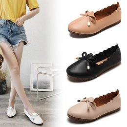 $enCountryForm.capitalKeyWord Australia - Grandma Baitao Han Ji Doug Soft Sole With Shallow Mouth Single Women's Shoes Flat Bottom Fashion2019 Pregnant Woman Shoe