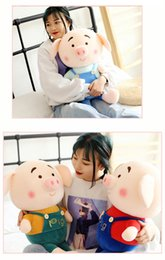 $enCountryForm.capitalKeyWord NZ - Couple cute pig hug plush toy doll press doll a pair of dolls men and women wedding creative gift
