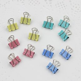 paper file clips Australia - 2019 60 PCS 15mm Random Colored Metal Binder Clips for Notes Letter Paper Home Office School File Paper Organizer