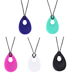 Silicone Toys Australia - ental Care Baby Teethers Silicone Baby Teether Drop Pendant Toddler Kids Teething Ring Necklace Infant Molars Tooth Chewable Teething Toy...