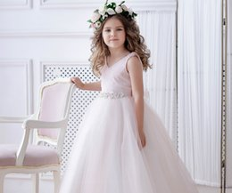 Toddler Special Occasion Australia - Blush Flower Girl Dress tulle Pink bridesmaid Baby Little girl special occasion Tutu wedding Toddler formal Occasion Party dresses