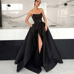 9eda94f67d967 Long Prom Dress 2019 Elegant abendkleider Sexy High Slit Burgundy Arabic Formal  Evening Gowns robe de soiree