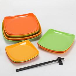$enCountryForm.capitalKeyWord Australia - Melamine Square Plate Dish Eco-friendly Dinnerware Spaghetti Fruit Pastry Buffet Hot Pot Shop Kitchen BBQ Use ZC0650