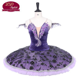 Purple Adult Professional Ballet Tutu Stage Wear Women Ballet Dance Performance Competition Costumes Girls Ballet Skirt Clothing Dancewear