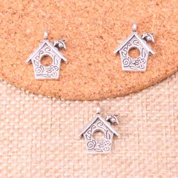 House Plates Australia - 120pcs Antique Silver Plated cabin house Charms Pendants fit Making Bracelet Necklace Jewelry Findings Jewelry Diy Craft 17*15mm