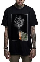 $enCountryForm.capitalKeyWord Australia - Mafioso Money to Burn Crown Fire Hundred Dollar Bills Urban Ink Men's Tee Shirt