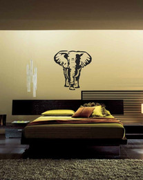 nursery stickers jungle UK - Famous Large Bangkok Elephant Animal Wall Stickers For Living Room Decals Elephant Jungle Safari Bedroom Headboard Home Decor