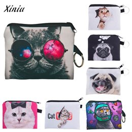 $enCountryForm.capitalKeyWord Australia - Girl Animal Cute Cat Dog printing coins change purse Clutch zipper zero wallet phone key bags Female Women Fashion