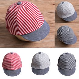 Wholesale Summer Cute Newborn Baby Girl Boy Hat Infant Sun Cap Cotton Beret Hat Striped A