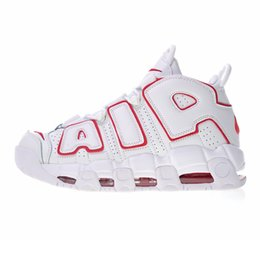 4db838d8b60 2018 New 96 QS Olympic Varsity Maroon more Mens Basketball Shoes 3M Scottie  Pippen air Uptempo Chicago Trainers Sports Sneakers Size 40-46