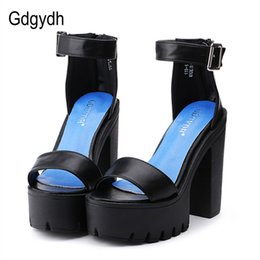$enCountryForm.capitalKeyWord Australia - Gdgydh Drop Shipping White Summer Sandal Shoes For Women 2019 New Arrival Thick Heels Sandals Platform Casual Russian Shoes Y19070503