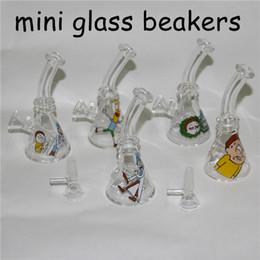 $enCountryForm.capitalKeyWord Australia - Mini Glass Beaker Bong Dab Rigs Perc Filters Heady Water Pipes Bongs Glass Bowl Oil Rigs Bubbler Smoking Pipe
