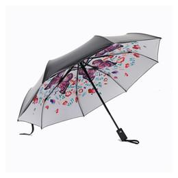 $enCountryForm.capitalKeyWord Australia - Fully Automatic Flower Umbrella Black Coating Sunscreen Sunny Umbrella Rain Woman 3 Folding Umbrella Female Princess Parasol T8190619
