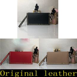 Red Stud Handbags Australia - Classic 2019 Summer Fashion Flaps chain bag sheepskin Studs rivets package designer handbags shoulder leather handbag