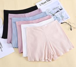 $enCountryForm.capitalKeyWord Australia - Women High Elastic Mid Waisted Seamless Thread Cotton Boxer Girl Underwear Women Natural Color Boxer 6 Colors Available
