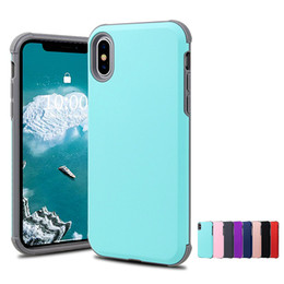 $enCountryForm.capitalKeyWord NZ - For Iphone XS MAX XR X 8 7 6S PLUS phone case hybird tpu pc slim armor hard cell phone case cover for Samsung S9 plus note 8 9 luxury new