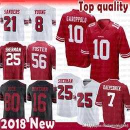 San Francisco 49ers 7 Colin Kaepernick Richard Sherman 10 Jimmy Garoppolo  Jersey 56 Reuben Foster 16 Joe Montana 80 Rice Sanders McGlinchey 152dcd918