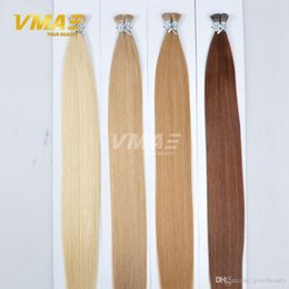 wholesale fusion human hair extensions Australia - VMAE 18 to 30 1g strand 100g pack Brazilian Pre Bonded Natural Straight Keratin Fusion Stick I Tip Virgin Human Hair Extensions Opp Bag
