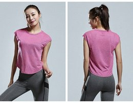 plus size yoga pants UK - Sport Tops Plus Size S-4XL Yoga Tops For Women Quick Dry Fitness Short Sleeve Mesh Gym Workout Breathable Shirts Yoga Crop RueW#