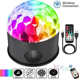 $enCountryForm.capitalKeyWord Australia - USB Play Music 9 Color LED Magic Ball Light 9W DJ KTV Bar Stage Light Birthday Party Effect Light Remote Bluetooth+Speaker 1pc