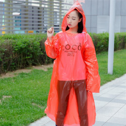 Wholesale tour coat for sale - Group buy Universal Hood Raincoat Pe Material Transparent Multicolor One Time Emergency Rainwear Tour Must Poncho Rain Coat Waterproof fs E19