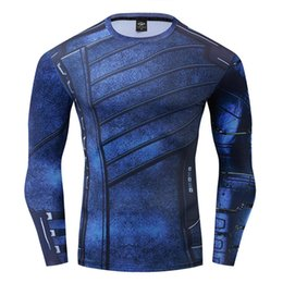 Soldat de l'hiver Tshirt Hommes Gym Fitness Tee Shirt Compression T-shirts Homme Bodybuilding Tops Workout Sport Tees Activewear S-XXXL