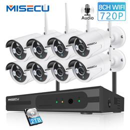 Weatherproof Wireless Ip Security Camera Australia - MISECU 8CH 1080P HDMI WiFi NVR 8PCS 1.0MP CCTV Wireless IP Camera Audio IR Outdoor Weatherproof Security Surveillance System Kit