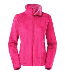Wholesale New North Winter Spring Women s Soft Fleece Osito Jackets Coats Fashion Casual Brand Ladies Men s Kids Ski Down Warm Coats S XXL Black Pink