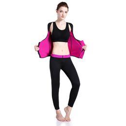 $enCountryForm.capitalKeyWord NZ - Women Body Shaper Top Shirt Waist Control Slimming Shaper Long Sleeve Zipper Vest Weight Loss Sport Fitness Yoga Clothes