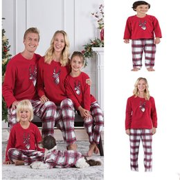 Family Christmas Pajamas New Year Family Matching Outfits Mother Father Kids  Clothes Sets Xmas Deer Head Printed Pajamas Sleepwear Nighty c7cf488c6