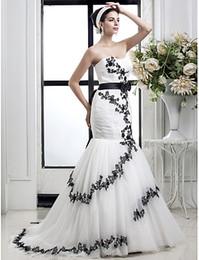 $enCountryForm.capitalKeyWord Canada - Hot style sexy mermaid wedding dresses lace print sexy back design black print new wedding dress beautiful wedding dress Robes De Mariee