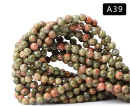 Wholesale Semi Precious Beads Natural Australia - 8mm Natural Brown Round Iron Zebra Jasper Stone Gemstone Semi Precious Beads DIY Loose Bead For Jewelry Making 15 Inch Wholesale
