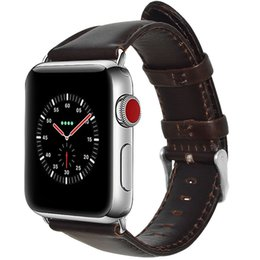 Watches Smart Bracelets Australia - Calf Genuine Leather Bracelet Wrist Strap for iWatch iPhone Apple Smart Watch Band 42mm 38mm Case Metal Adapters Series 4 3 2 1