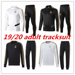 Skinny training pantS men online shopping - 2019 Real Madrid adult tracksuit men s soccer chandal football tracksu adult assensio training suit skinny pants Sportswear